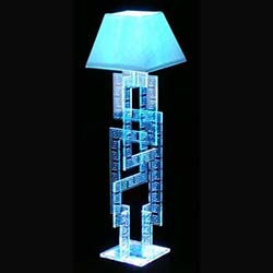 Laser Designed Acrylic Greek Style Lamp