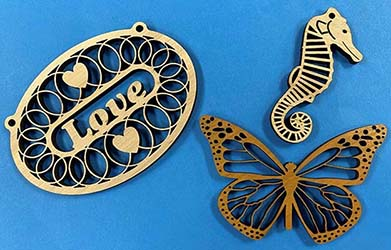 Laser Cut Wooden Jewellery